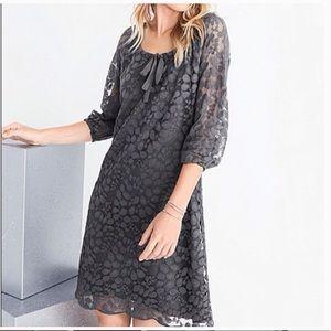 Garnet Hill Gray Boheme Easy Lace Dress Size 14